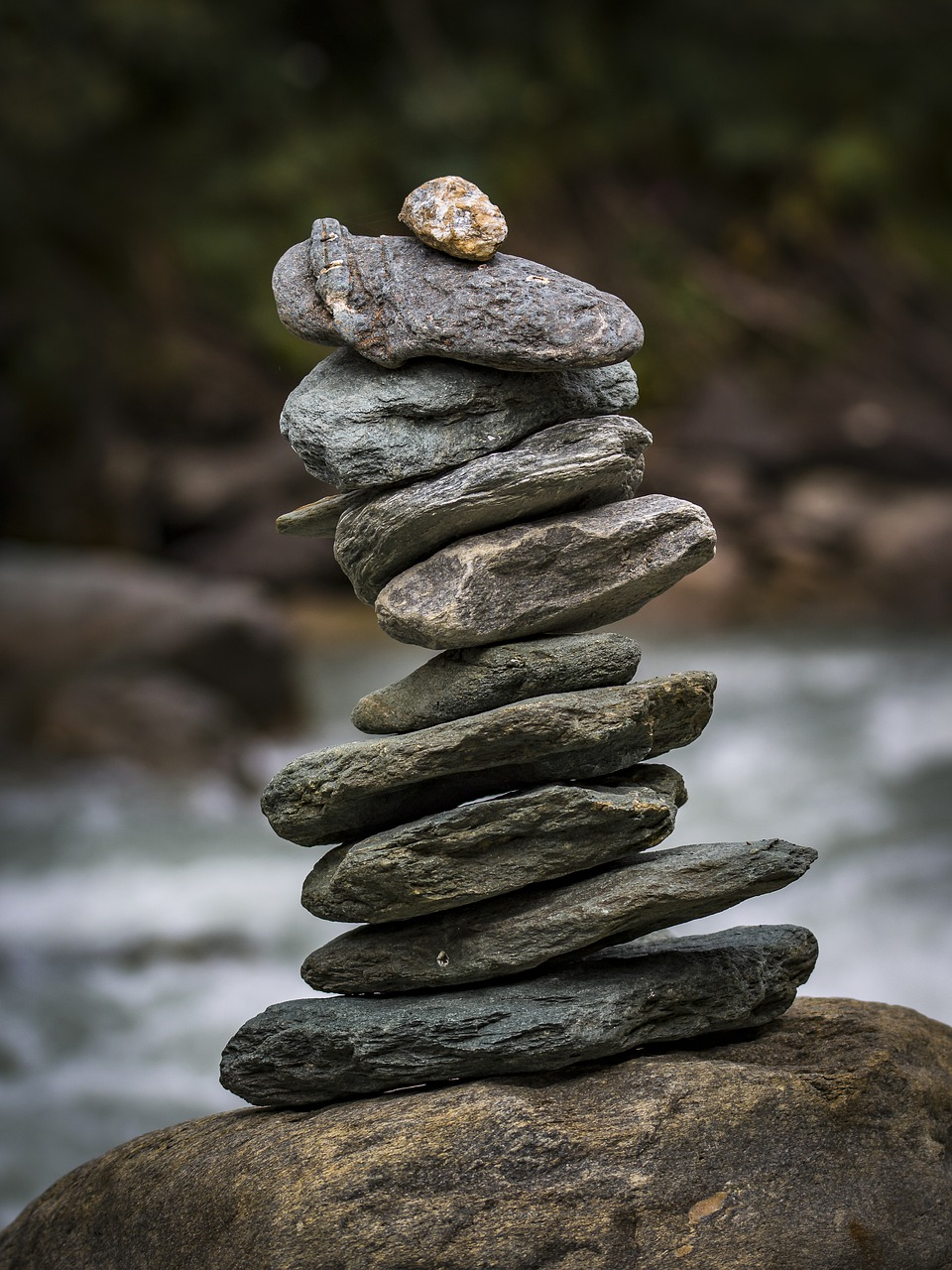 stone tower, balance, meditation